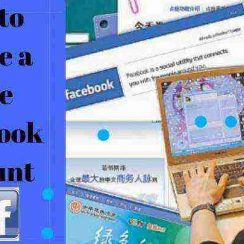 how to open a fake Facebook account