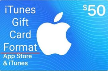 iTunes gift card format