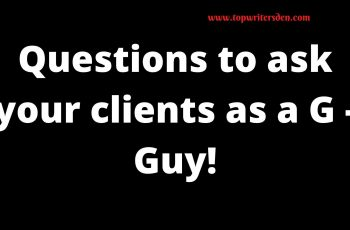 questions to ask your clients