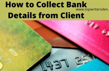 collect bank details from a client